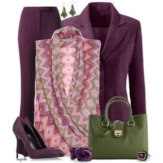 Aubergine Office 2 by amybwebb on Polyvore featuring Givenchy, Sergio Rossi, Ivanka Trump and David Yurman