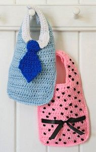 crocheted-baby-bibs- I think cotton yard would be more practical for washing...