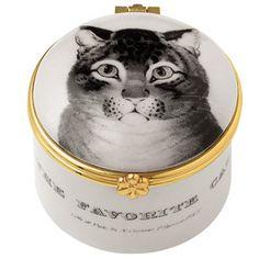 The Favorite Cat Mini Porcelain Box - Decorative Accents - Home Decor - The Met Store