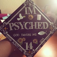 Graduation Cap. Psychology.