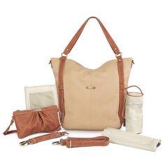 timi /& leslie Kate 7-Piece Diaper Bag Set Copper//Saddle