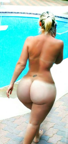 Now that's a big ass tan line if you will pardon the pun!