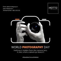 Nothing is hidden from the camera lens; it sees what a naked eye doesn't World Photography Day..! #Motto #Tiles #mottogroup #Ceramic #FloorTiles #slabtiles #CeramicTiles #CeramicTile #SlabTile #Slab #Tile #Marbles #MarblePlus #WorldPhotography #Day #photographer #world #Photography #InternationalPhotographyDay #Art International Days, World Photography Day, Thinking Quotes, Social Media Banner, Marbles, Camera Lens, Banner Design, Motto, Naked