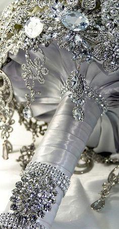 diamond bridal bouquet