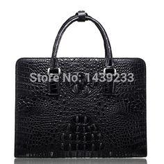 666.00$  Buy now - http://alijbc.worldwells.pw/go.php?t=2040438298 - Genuine Crocodile leather briefcase men business bag crocodile leather 100% original material 666.00$