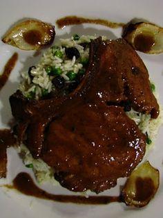 Recipe Chuletas de cerdo ahumadas en salsa de tamarindo y jengibre by Kayoya a la Carte - Petit Chef