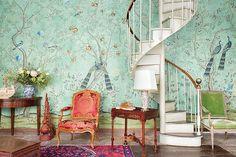 Chinoiserie Wallpaper, Hand Painted Wallpaper - Yrmural Studio