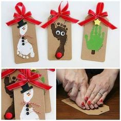 Fabulous Craft For Christmas With Toddlers Hand And Foot Prints