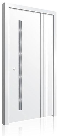 RK-5010 Contemporary Front Doors, Modern Front Door, Front Door Design, Modern Contemporary, Modern Exterior Doors, Interior And Exterior, Aluminium Front Door, Doors Online, Pivot Doors