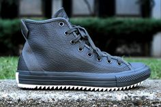 Hipster Leather Sneakers - The #Converse Chuck Taylor Hollis Hi Mixes Finesse and Streetwear