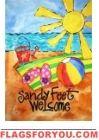 Sandy Feet House Flag Beach Flags, Beach Mat, Flag Decor, House Flags, Garden Flags, Flip Flops, Outdoor Blanket, Beach Sandals, Slipper