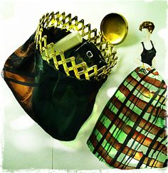 Vintage 1950's evening bag with expandable metal by EarthChildArt