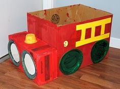Firetruck craft from Attack of the Craft blog. Needs to be sunny day to paint all this though