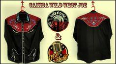 """.É com grande alegria que anuncio uma grande parceria da Old Stuff - Rockabilly Band of Brazil com a marca de roupas Loja Belladonna onde será desenvolvida uma coleção especial denominada """"Old Stuff Trio Signature"""" com Western Shirts criadas especialmente para os músicos da banda mas que também poderão ser adquiridas através do site da loja. Abaixo a primeira camisa denominada """"Wild West Joe"""" com todos os detalhes escolhidos por Billy Joe Rocker.  Informações: www.lojabelladonna.com"""