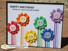 Cute card with PK stamps