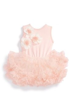Free shipping and returns on Popatu Sleeveless Floral Tutu Dress (Baby Girls) at Nordstrom.com. Gauzy floral accents float across the bodice of a sleeveless ballet dress featuring a layered tulle skirt and built-in bodysuit.