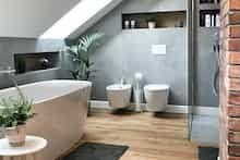 Dom w tamaryszkach 2 Thing 1, House Design, Bathroom, Detached House, Washroom, Full Bath, Bath, Architecture Design, House Plans