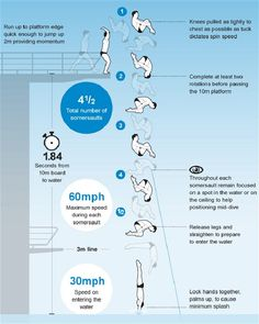Tom Daley's impossible dive visualized Infographic