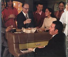 American Airlines Vintage Fleet and Inflight Service: New Passenger Lounge with Piano Bar in the Sky