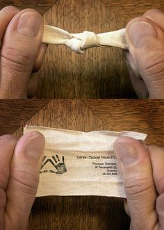 Massage Therapist Business Card by Fresh Ideas Company, via Flickr