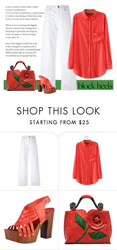 """""""Block Heels"""" by patricia-dimmick ❤ liked on Polyvore featuring Vince and blockheels"""