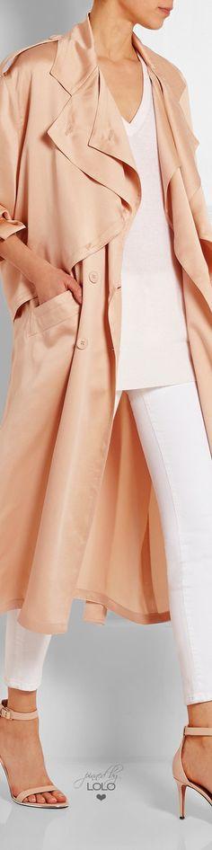 Stella McCartney Frankie silk-satin Trench Coat | LOLO❤