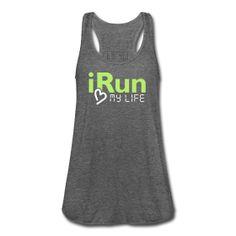 I RUN MY LIFE <3 , RUNNING TANK, RUNNING, RUN, EXERCISE, FITNESS, MARATHON, 5K, GYM, TANK, running tshirt, www.wickedts.spreadshirt.com