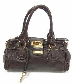 CHLOE Olive Green Leather Edith Tote Satchel Handbag FV12B at www ...