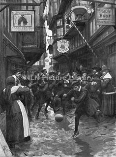 Football in the Streets of London 16th Century