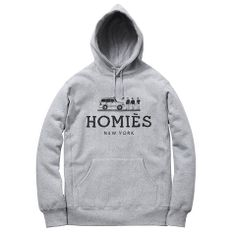 Homies Hoodie - Heather Grey/Black