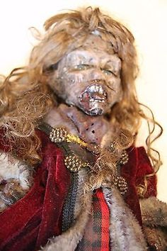 VERY creepy doll haunted halloween christmas dead zombie witch voodoo