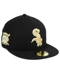 online store ad15a ecef8 New Era Chicago White Sox Exclusive Gold Patch 59FIFTY Cap - Black 7