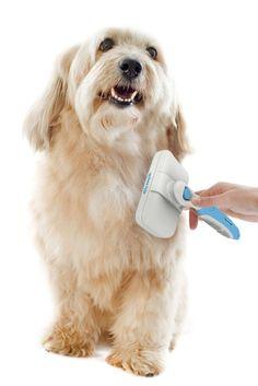 PERFECT PET SLICKER BRUSH - Grooming Quicker Easier - Rake Comb Handle Cleaning