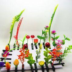 Design Nette Anlage Haarnadel Gras Haarnadel Der Pilz Haarspangen Kleine Sprossen Haarnadel Simulation Pflanzen Kinderhaarspangen Von
