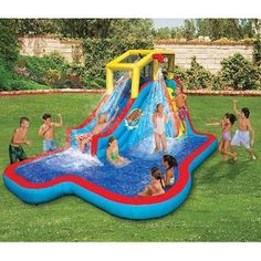 Best Water Slides For Backyard 52 best backyard waterpark images on pinterest | water games