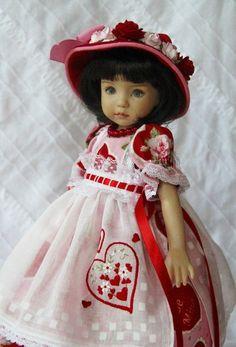 Vintage Valentine~ OOAK Outfit for Dianna Effner Little Darling ~ Glorias Garden