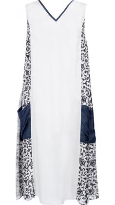 """</p> <p style=""""line-height: 11.85pt; font-size: 12.16px;"""">Mid-length sleeveless V neck dress in printed silk.</p> <p style=""""line-height: 11.85pt; font-size: 12.16px;"""">Silk binding around neckline in charcoal.</p> <p style=""""line-height: 11.85pt; font-size: 12.16px;"""">Centre front panel in liquen with front side panels in charcoal and liquen pattern.</p> <p style=""""line-height: 11.85pt; font-size: 12.16px;"""">Large pockets on lower sides of skirt panels in charcoal.</p> <p style=""""line-height… Printed Silk, Font Styles, Tube Dress, Side Panels, Font Family, Sewing Patterns Free, V Neck Dress, Mid Length, Nightwear"""