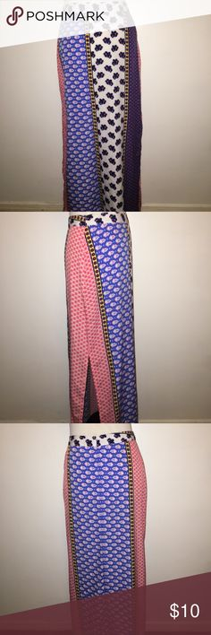 Beautiful Printed Maxi Skirt Beautiful Printed Maxi Skirt w/ Side Slits Boohoo Skirts Maxi