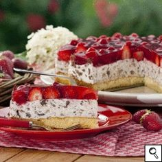 "Erdbeertorte ""Stracciatella Art"" - Strawberry cake (German)"