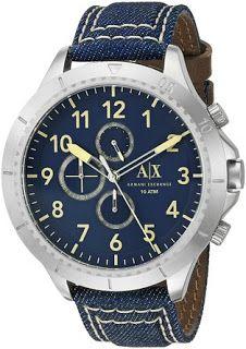 6f1d331faa2 Armani Exchange Watch  Armani Exchange Men s AX1756 Stainless Steel Watch  with Denim Band Round watch