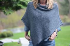 """twig - a Friend to knit with Free Pattern for Poncho from """"A friend to Knit With"""" Blog"""