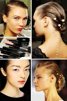 """neo mermaids with pearl """"piercings"""" at Chanel's Spring 2012 show"""