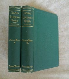 Pickwick Papers Volume I & II Charles Dickens Antique Victorian 1875 Illustrated