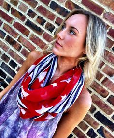 Eric Church was wearing an american scarf in Springsteen... MUST HAVE ONE OF THESE! :)