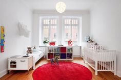 Shared room, toddler and baby