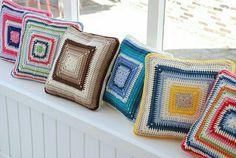 Almohadas en diferentes combinaciones - crochet
