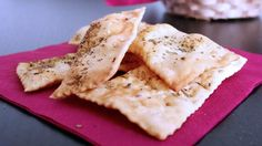 Olive oil crackers with gfree flour