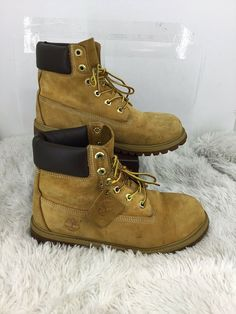 2df2fec31f43 Timberland Youth 6 Premium Waterproof Boots In Wheat Size 6.5M