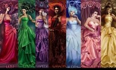 colors of 7 deadly sins