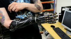 Deus Ex's Bionic Limbs Are Being Made For Real: 3D Print Yourself A Hand | Futuristic Prosthetic, Cyberpunk, 3D Printing, Bionic Arm, Cyborgization, Deus Ex, Bionic Limbs, Adam Jensen